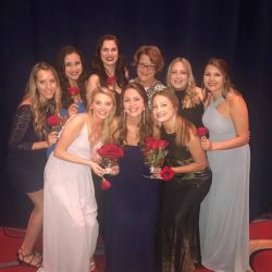 Alpha Delta Chapter of Alpha Omicron Pi receives the Jessie Wallace Hughan Cup