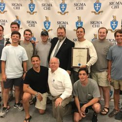 Iota Iota Chapter of Sigma Chi receives the Peterson Significant Chapter Award